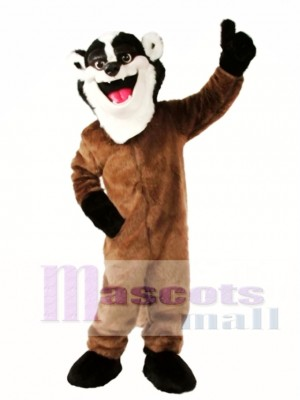 Cute Badger Mascot Costume