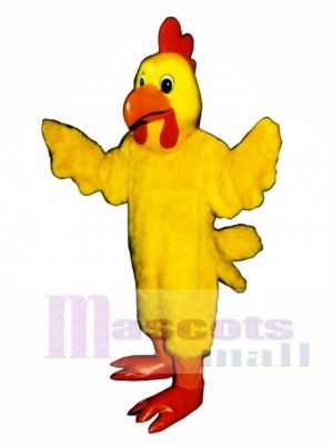 Cute Mrs. Cluck Cock Rooster Mascot Costume Poultry