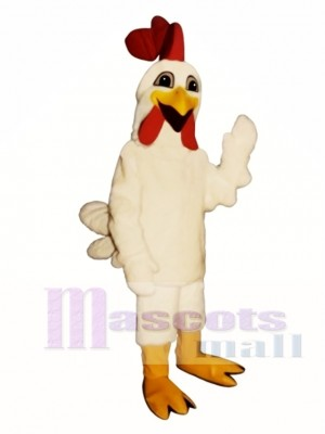 Cute Laughing Rooster Mascot Costume Poultry
