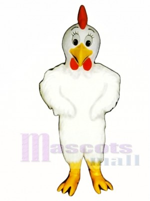 Cute Henny Chicken Mascot Costume Poultry