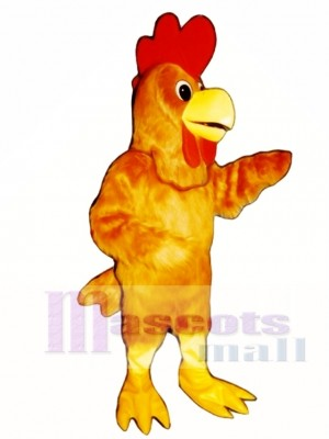 Cute Rusty Rooster Mascot Costume Poultry