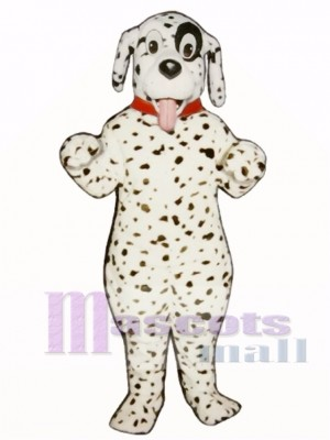 Cute Dalmatian Dog With Collar Mascot Costume Animal
