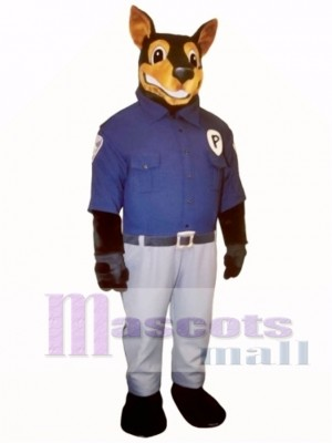 Cute Officer Doberman Dog Mascot Costume Animal