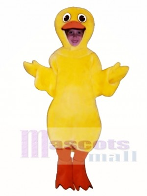 Cute Duck Mascot Costume Poultry
