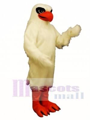 Cute White Hawk Mascot Costume Animal