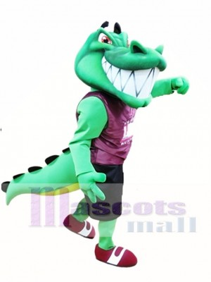 Cute Crocodile Mascot Costume Green Alligator Mascot Costumes Animal