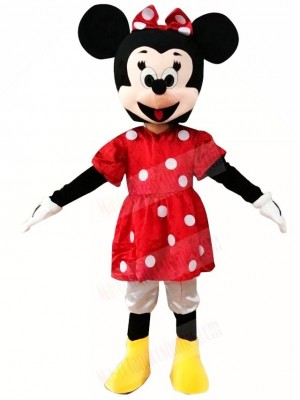 Minnie Mouse in Red Dress Mascot Costumes Cartoon