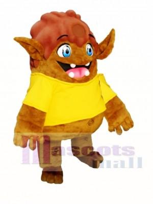 Brown Elf Mascot Costumes Christmas Xmas
