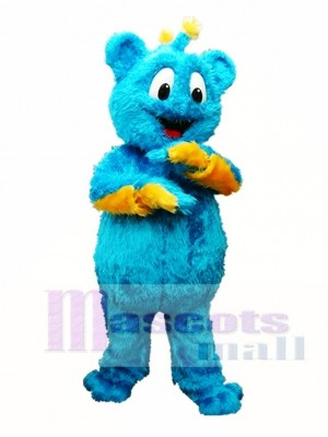 Blue Bear Mascot Costume Furry Mascot Costumes Animal