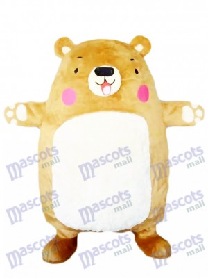 Adorable Big Bear Mascot Costume Tan Bear Animal