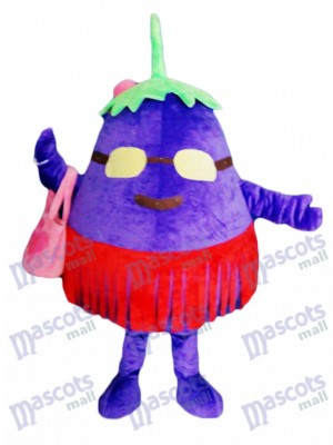 Purple Eggplant Mother Vegetable Mascot Costume Food Plant
