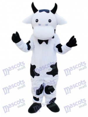 Black and White Cow Mascot Costume Cartoon