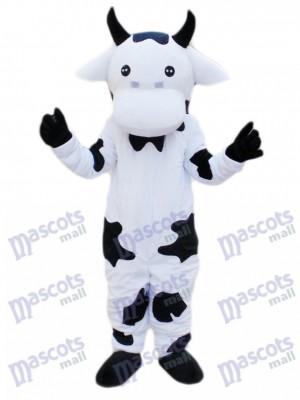 Black and White Cow Mascot Costume Cartoon