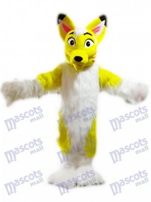 Yellow Husky Dog Fox Mascot Costume Cartoon