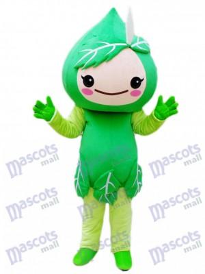 Green Leaves Mascot Costume Plant