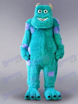 Blue Monster Mascot Costume Cartoon Anime