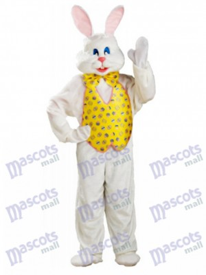 White Bunny Easter Rabbit Mascot Costume Animal
