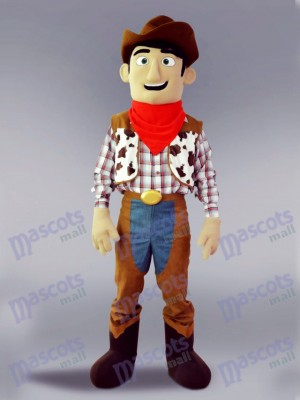 Cowboy Cartoon Character Mascot Costume