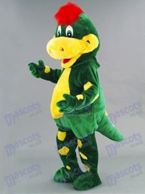 Green Dino Dinosaur Mascot Costume Animal