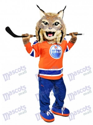 Hunter the Canadian Lynx Edmonton Oilers Hunter Mascot Costume Animal