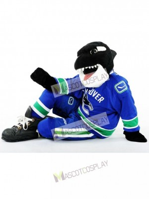 Fin the Whale of the Vancouver Canucks Orca Mascot Costume Animal