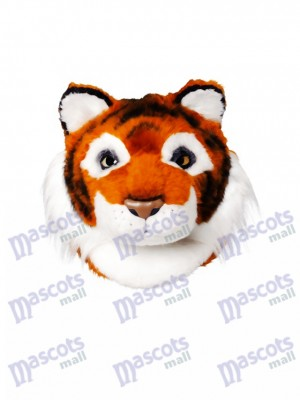 Friendly Tiger Mascot Head Only Animal
