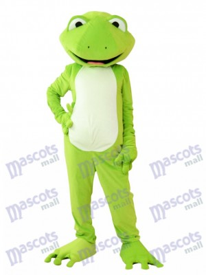Green Frog Mascot Costume Animal