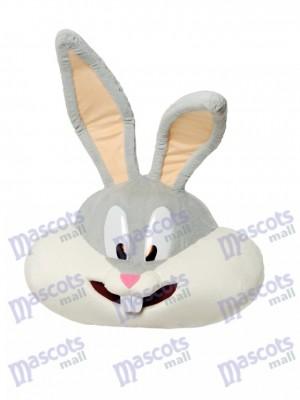 Gray Bunny Mascot Head ONLY Animal