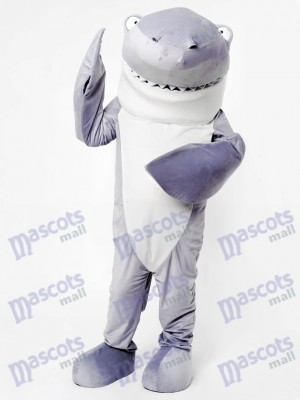 Gray Shark Mascot Adult Costume Shark