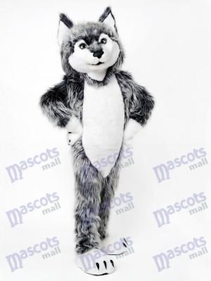 Gray Wolf Mascot Costume Animal