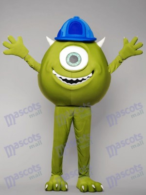 Green Monster Mike Mascot Costume Cartoon Anime