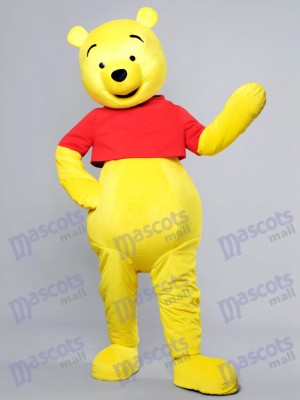 Happy Face Winnie the Pooh Bear Mascot Costume Cartoon Anime
