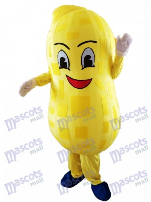 Yellow Peanut Mascot Costume Food Plant