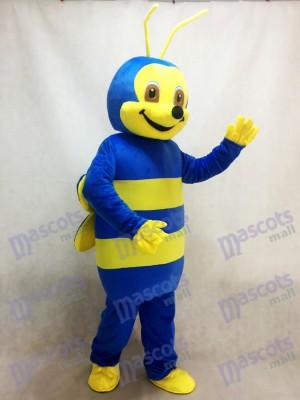 Lovely Blue Bee Mascot Costume