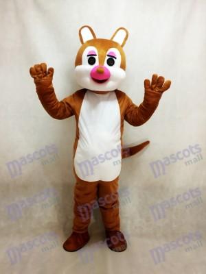 Pink Nose Squirrel Mascot Costume Animal