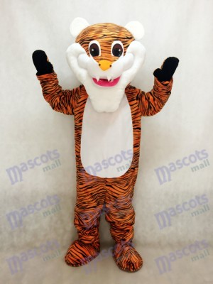 White Beard Tiger Mascot Costume