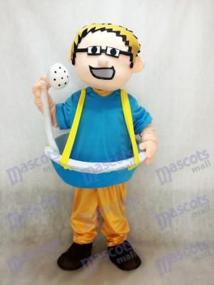 Blue Bathtub Man plus Shower Head Mascot Costume