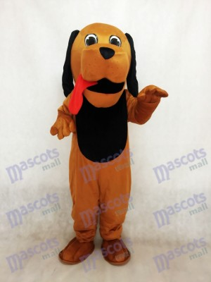 New Red Tongue Hound Dog Mascot Costume