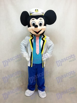 New Navy Mickey Mouse Mascot Adult Costume Anime
