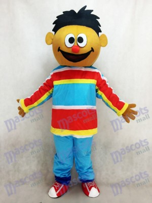 Orange Sesame Street Ernie Adult Mascot Costume Cartoon