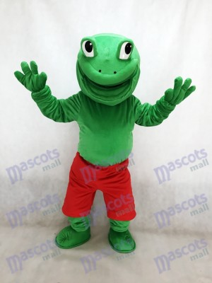 New Green Frog with Red Shorts Mascot Costume Animal