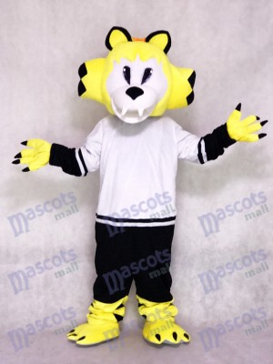 Nashville Predators Ice Hockey Team Mascot Costume Yellow Saber-toothed Cat Animal