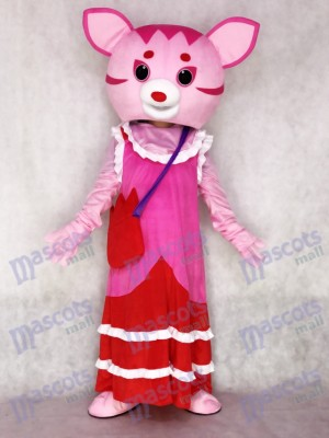 Fairy Pink Cat Adult Mascot Costume