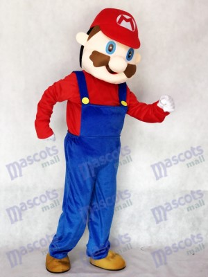 New Cute Mario Adult Mascot Costume Cartoon Anime