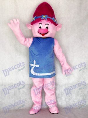 Pink Trolls Girl Poppy Mascot Costume Girl Mascot Costume Cartoon Anime