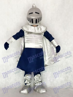 Silver Knight with Helmet Mascot Costume People