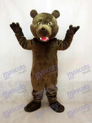 Brown Grizzly Bear Plush Mascot Costume