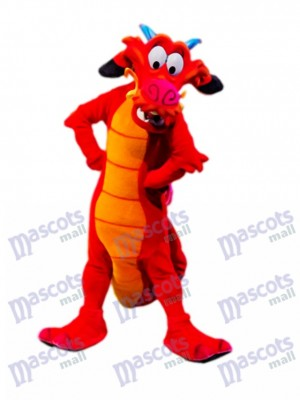Red Legendary Dragon Mascot Costume Animal