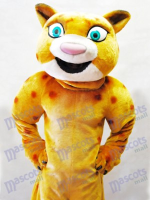 Cute Yellow Leopard Mascot Costume Animal