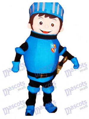 Blue Mike the Knight Mascot Costume People